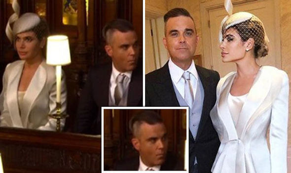 Robbie Williams breaks rules by chewing gum in church