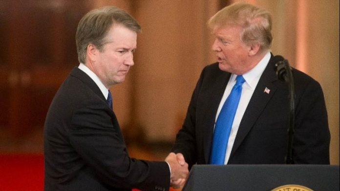 Trump apologises to Kavanaugh for