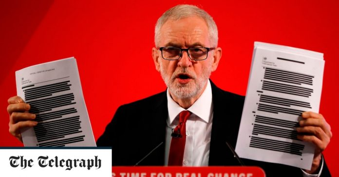 Leaked documents brandished by Jeremy Corbyn 'were hacked by Russians from minister's account'
