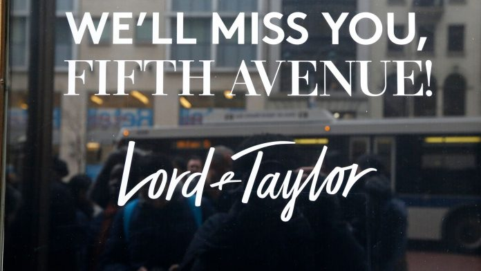 Lord & Taylor Becomes Latest Major Retailer To File For Bankruptcy Protection