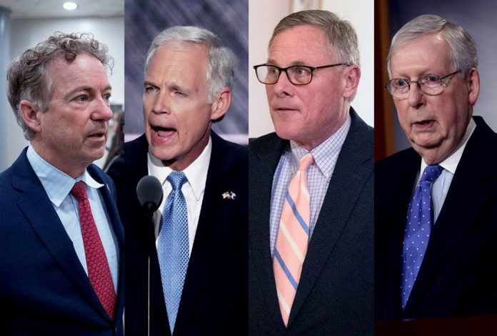 Senate Republicans pushs the country off a cliff — and then head for the hills