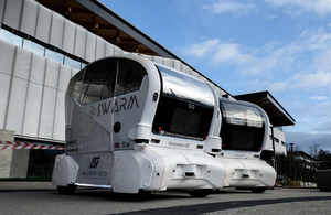 Driverless pods by Aurrigo