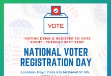 September 22nd National Registration Voting Day