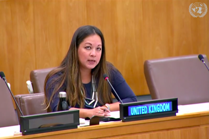 Naureen Fink, UK Senior Policy Adviser, at the UNGA 6th Committee