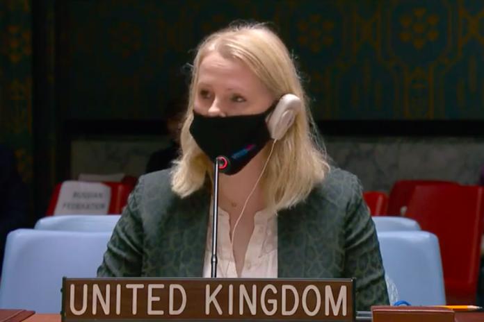 Sonia Farrey, UK Political Coordinator at the UN