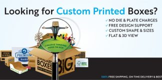 Order Custom Packaging Boxes with free shipping worldwide at Fin Packaging