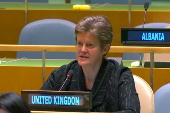 Ambassador Barbara Woodward at UN General Assembly