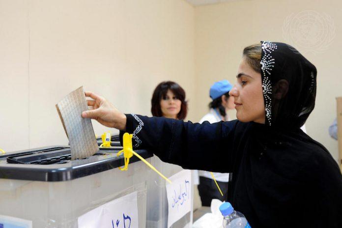 Voter polling station in Erbil (UN Photo)