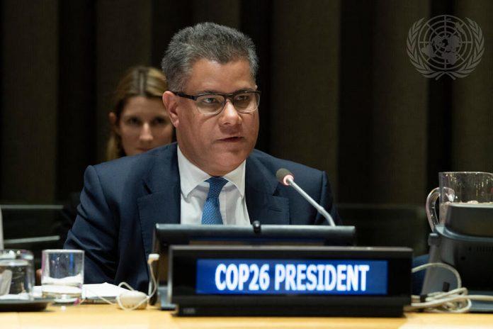 COP26 President Designate Alok Sharma at UNHQ 2020 (UN Photo)