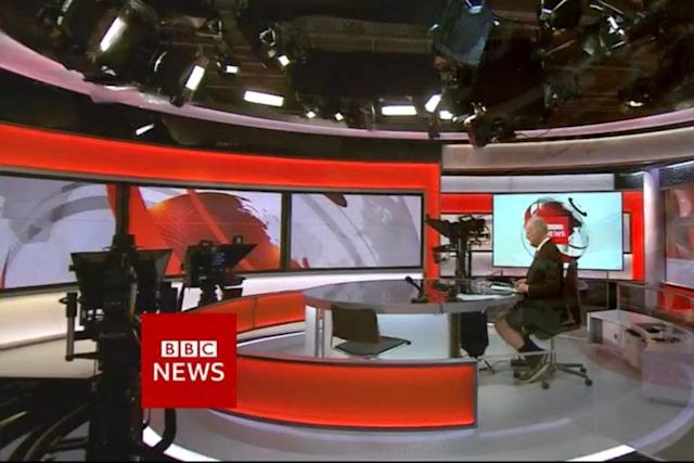 BBC presenter caught wearing shorts under desk on hottest day of year (Photo)