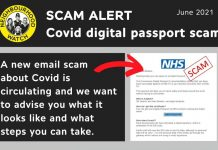NHS: Covid vaccine passport email is a scam (Police)