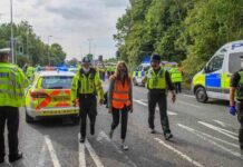 30 arrested after climate activists block parts of the M25